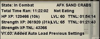 AFK SAND CRABS - Combat - TRiBot Forums